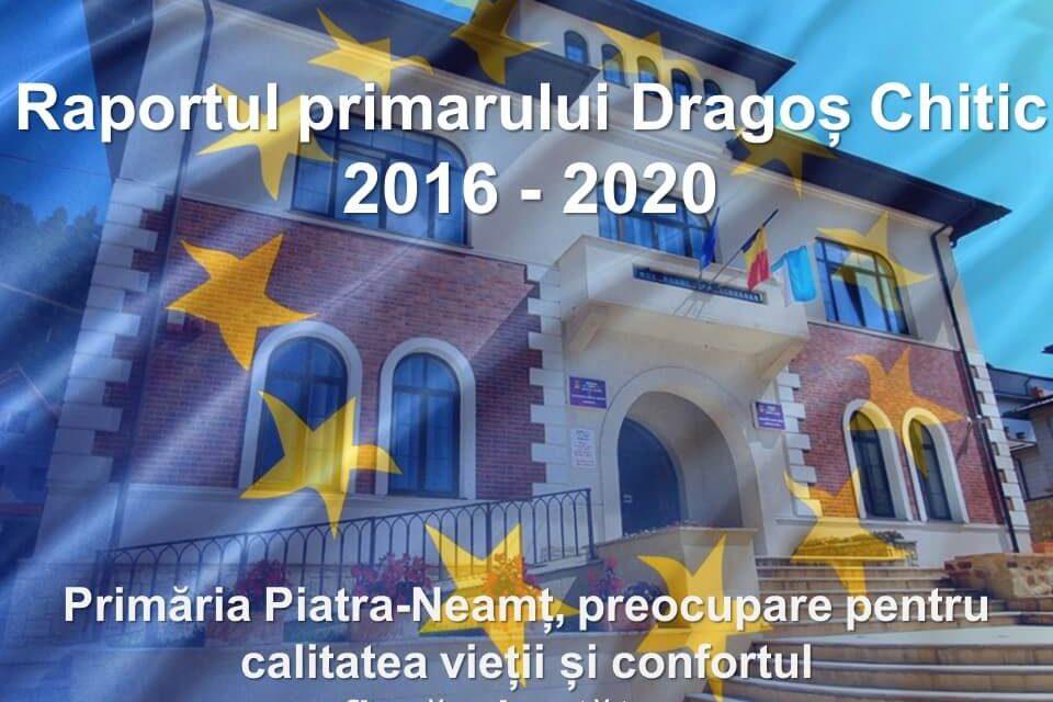 Raportul primarului Dragoș Chitic, 2016 – 2020