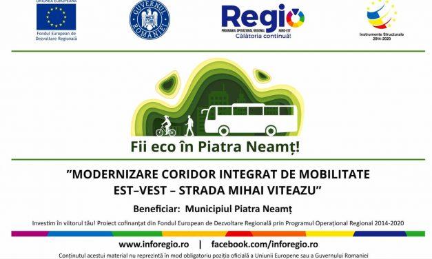 """""""Modernizare coridor integrat de mobilitate Est–Vest – Strada Mihai Viteazu"""", Cod SMIS 126606"""