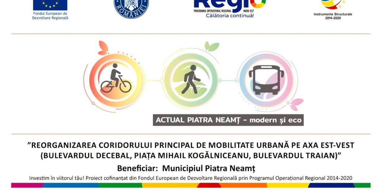 Reorganizarea coridorului principal de mobilitate urbana pe axa est-vest