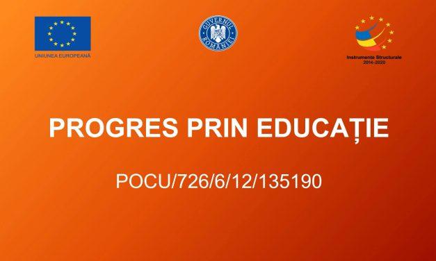 """Progres prin Educație"""