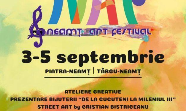 NEAMŢ ART FESTIVAL, activităţile culturale programate sâmbătă, 4 septembrie 2021