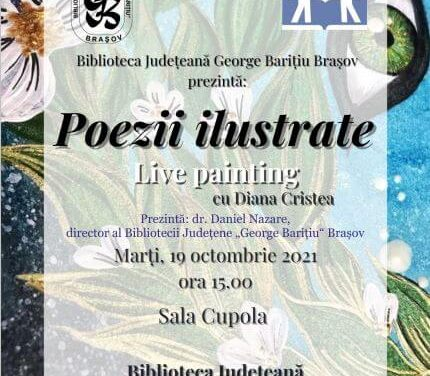 Poezii ilustrate Live painting